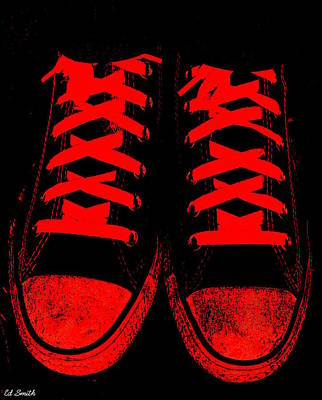 Foot Wear Digital Art - The Devil Wears Converse by Ed Smith