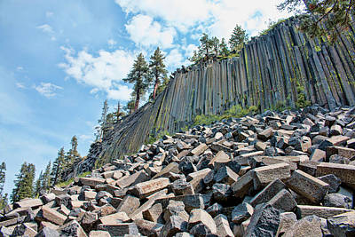 Photograph - The Devil's Postpile by Kristia Adams