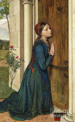 Hungarian Painting - The Devout Childhood Of Saint Elizabeth Of Hungary, 1852 by Charles Alston Collins