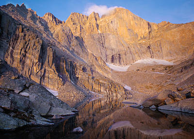 Chasm Lake Photograph - The Diamond Of Long's Peak by Nathan Mccreery
