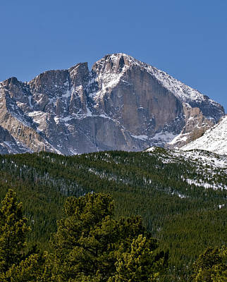 Diamonds Photograph - The Diamond On Longs Peak In Rocky Mountain National Park Colorado by Brendan Reals