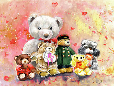 Painting - The Dianas Bears by Miki De Goodaboom