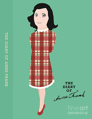Book Covers Drawing - The Diary Of Anne Frank Book Cover Movie Poster Art 2 by Nishanth Gopinathan