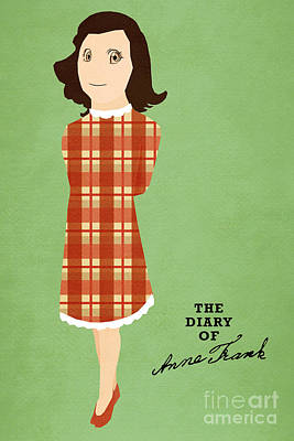 Book Covers Drawing - The Diary Of Anne Frank Book Cover Movie Poster Art 3 by Nishanth Gopinathan