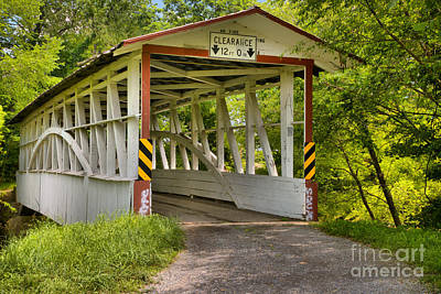 Photograph - The Diehl's Covered Bridge by Adam Jewell