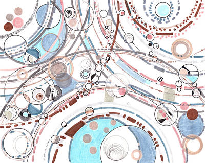 Drawing - The Diffractive Nature Of Being by Regina Valluzzi