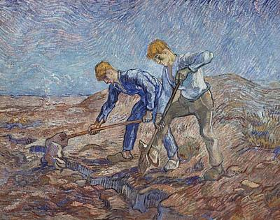 Painting - The Diggers by Artistic Panda