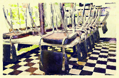 The Diner Is Closed Art Print by Susan Leggett