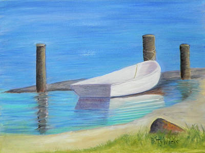 Painting - The Dinghy by Patty Weeks