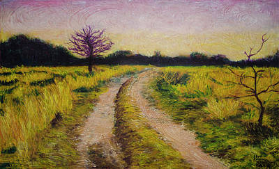 Painting - The Dirt Road by Ron Richard Baviello