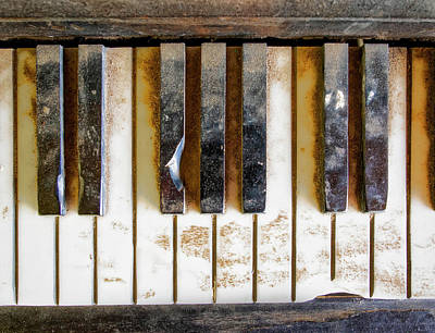 Photograph - The Dirty Piano Keyboard by Gary Slawsky