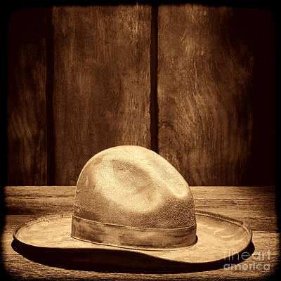 Photograph - The Dirty Tan Hat by American West Legend By Olivier Le Queinec