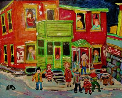 Painting - The Disappearance Of Victoriatown 1963  Montreal by Michael Litvack