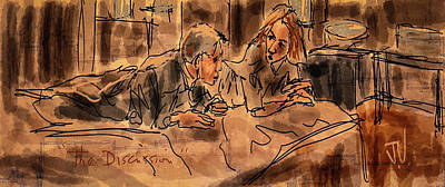 Digital Art - The Discussion by Jim Vance