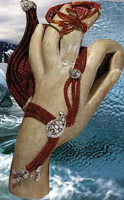 Jewerly Mixed Media - The Display Hand Of The Ice Sheet Mannequin by Ethel Dixon