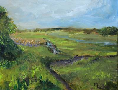 Painting - The Distant View Of The Marsh by Michael Helfen