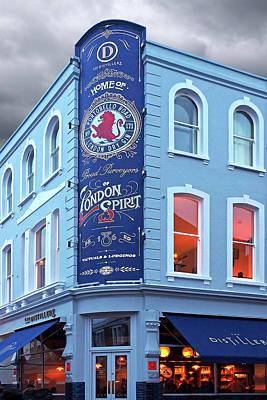 The Distillery Portobello Road London Spirit Gin House Art Print by Gill Billington