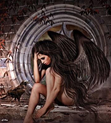 Distress Angel Art Print