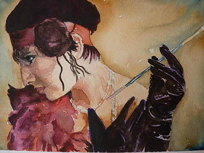 Art Print featuring the painting The Diva by P Maure Bausch