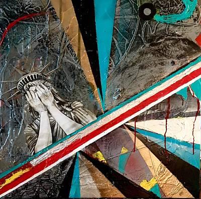 Joan Raspo Wall Art - Painting - The Divide by Joan Raspo
