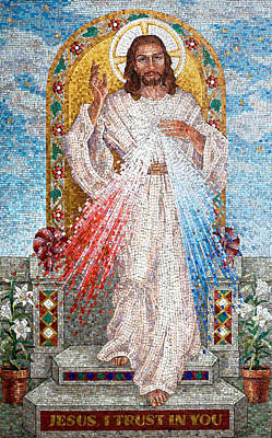The Divine Mercy  Print by Janet Flom