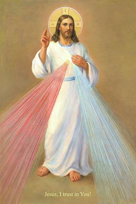 Painting - The Divine Mercy Of Jesus by Svitozar Nenyuk