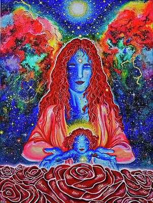 The Divine Mother And Child Art Print by Marika Segal