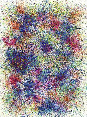 Fireworks Painting - The Divine Wedding Bells #102 by Rainbow Artist Orlando L aka Kevin Orlando Lau