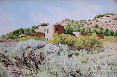Adobe Painting - The Dixon House by Mary Rogers