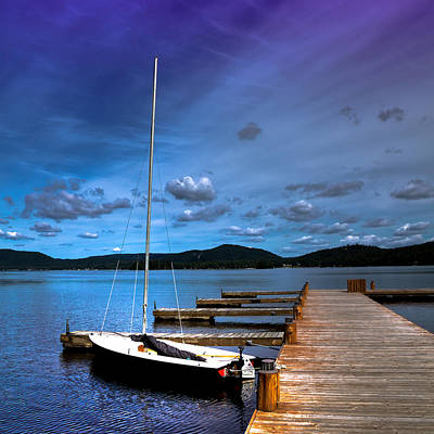 The Dock At The Woods Inn Art Print by David Patterson