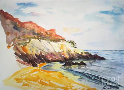 The Dock Beach Art Print by Lidija Ivanek - SiLa