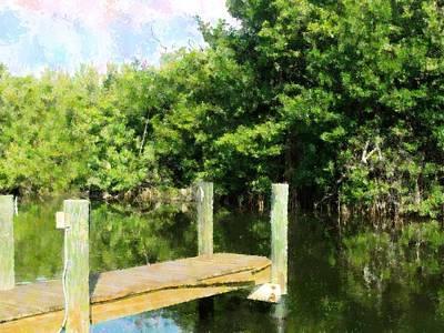 Mixed Media - The Dock by Florene Welebny