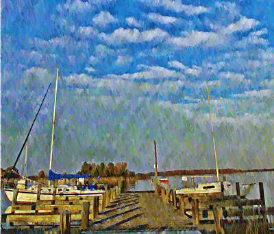 The Dock Of The Bay Art Print by Bill Cannon