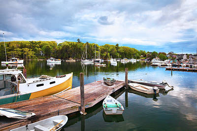 The Docks In South Bristol Maine Art Print by Eric Gendron
