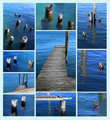 Photograph - The Docks Of Saint Clair 2 Aqua by Mary Bedy