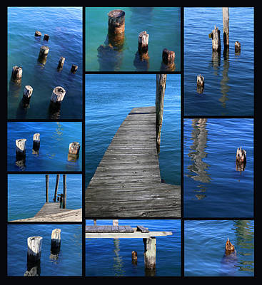 Photograph - The Docks Of Saint Clair 2 Black by Mary Bedy