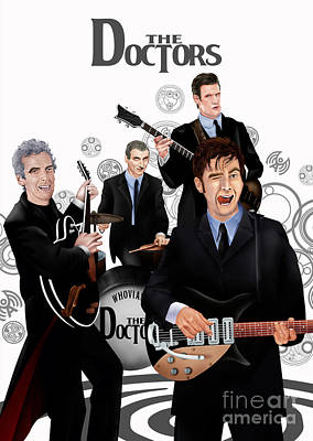 Fandom Digital Art - The Doctor Reunion Band by Three Second