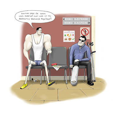 Crutch Digital Art - Jim Goes To The Doctors by Kris Burton-Shea