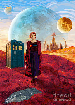 Digital Art - The Doctors Planet by Three Second
