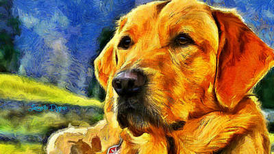 Studies Digital Art - The Dog - Da by Leonardo Digenio