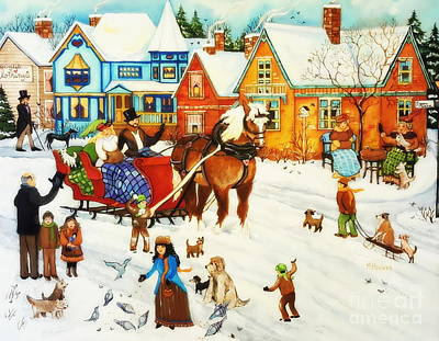 The Arkansas Artist Painting - The Dog Days Of Winter by Marla Hoover