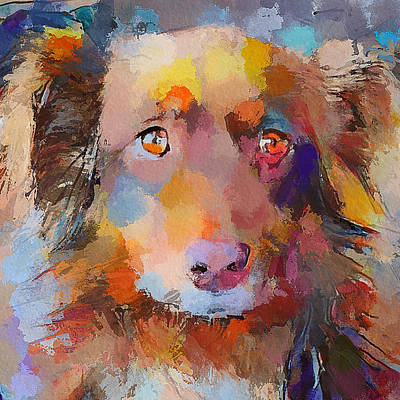 House Pet Digital Art - The Dog Friend Eyes by Yury Malkov