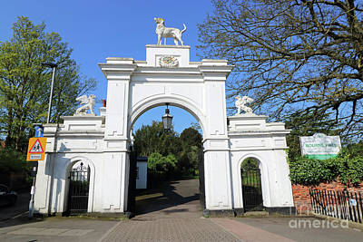 Photograph - The Dog Gate At Bourne Hall Ewell Village Surrey by Julia Gavin
