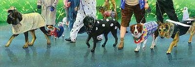 The Dog Parade Art Print