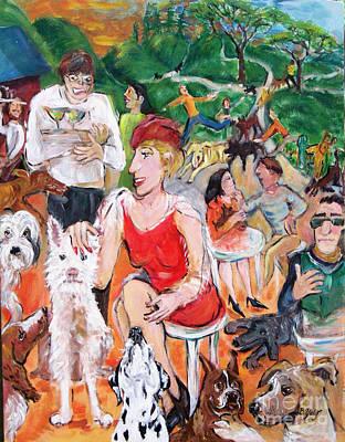 Painting - The Dog Park by Barbara Yalof