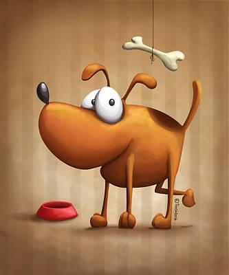 The Dog Art Print by Tooshtoosh