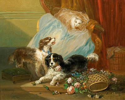The Dog House Painting - The Dog by Zacharias Noterman