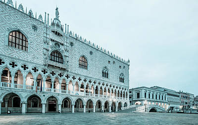 Photograph - The Doge's Palace Before Dawn by Jean Gill