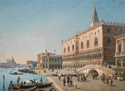 Luigi Querena Painting - The Doge's Palace. Venice by Luigi Querena