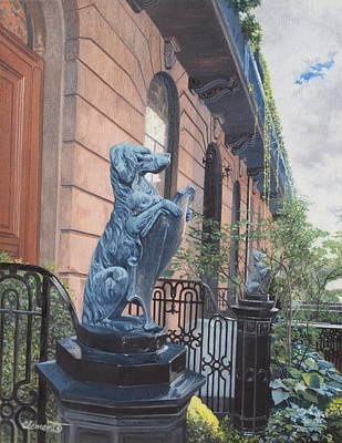 Painting - The Dogs On West Tenth Street, New York, Ny  by Barbara Barber